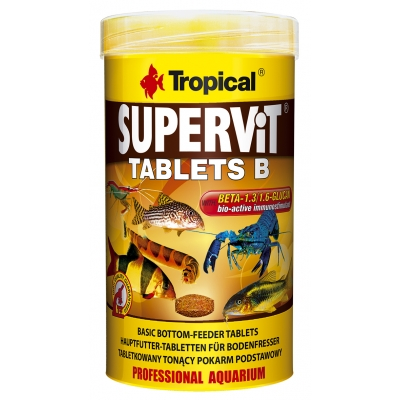 Tropical Supervit Tablets B 250 ml - für Bodenfresser