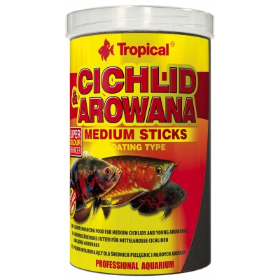 Tropical Cichlid & Arowana Medium Sticks 5 Liter