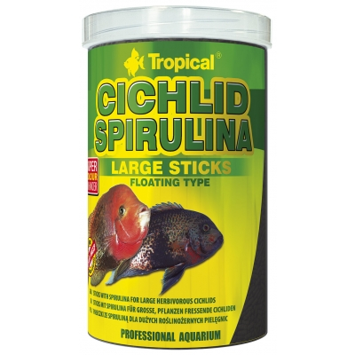 Tropical Cichlid Spirulina Large Sticks 1 Liter