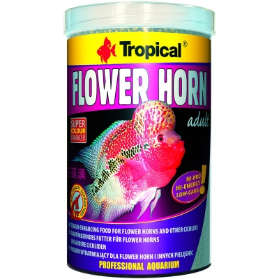 Tropical Flower Horn Adult Pellet 1 Liter