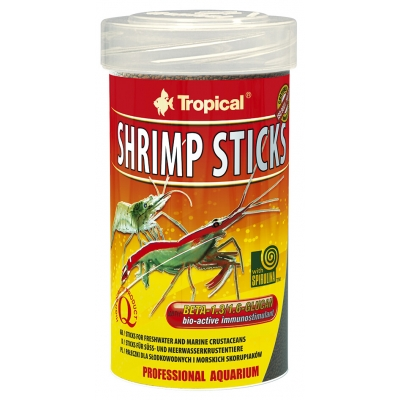 Tropical Shrimp Sticks mit Seemandelbaumblättern 3 Liter