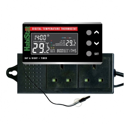 HabiStat Digital Temperatur Thermostat Day/Night 600 W