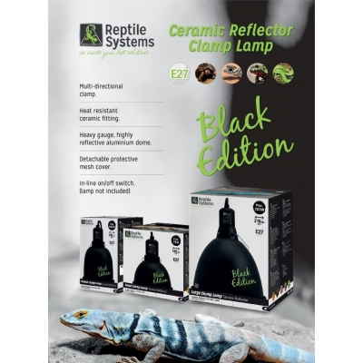 Reptile Systems Clamp Lamp BLACK EDITION - Large